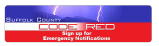 Graphic for Suffolk County Emergency Notifications and Code Red - go to the Suffolk Code Red Info web page