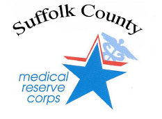 Graphic Medical Reserve Corps Logo - Go to the Suffolk County MRC web page