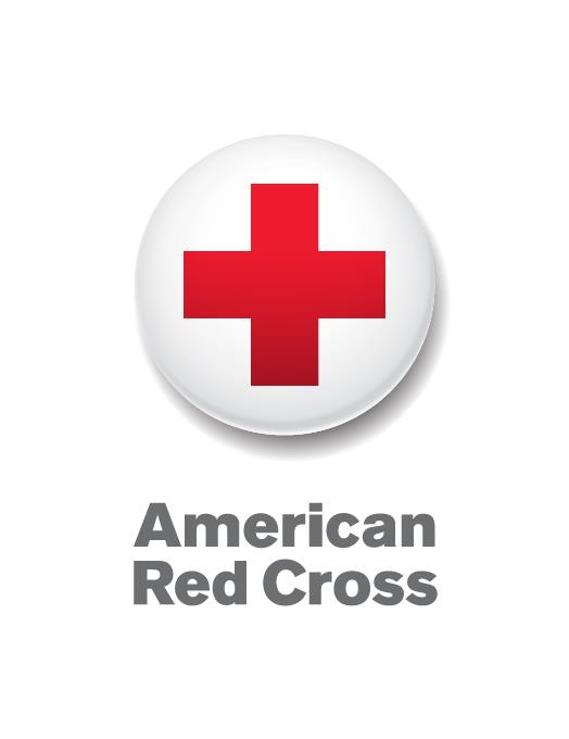 Graphic of a Red Cross in a White Circle labeled American Red Cross