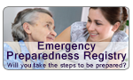 Suffolk County Emergency Preparedness Registry emblem, Click here to go to the Emergency Preparedness Registry web site