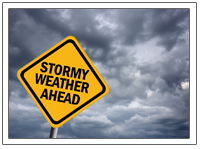 Stormy Weather Ahead emblem-September is National Preparedness Month