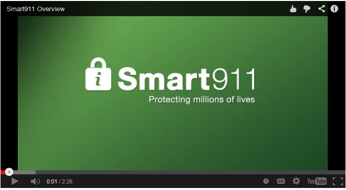Smart911 Image - Click here to view a video on the Smart911 system