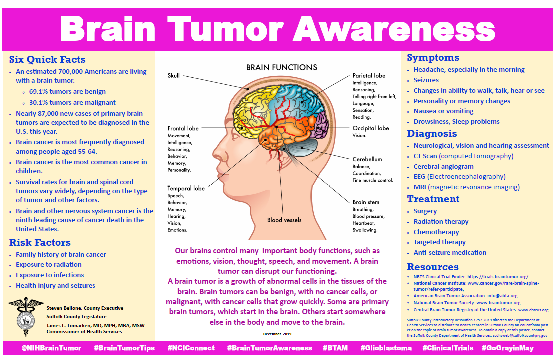 Brain Tumor Awareness Flyer