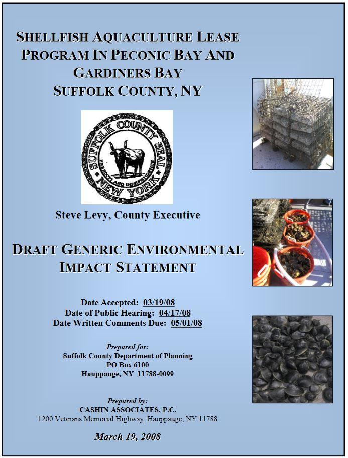 Draft Generic Environmental Impact Statement cover