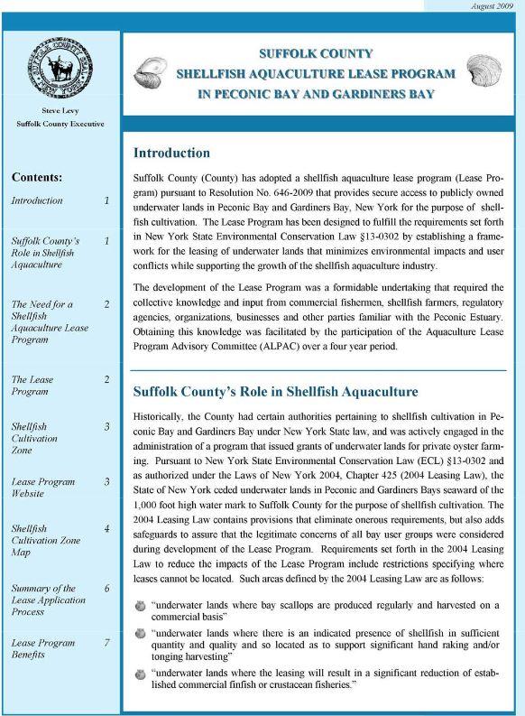 Summary Document cover