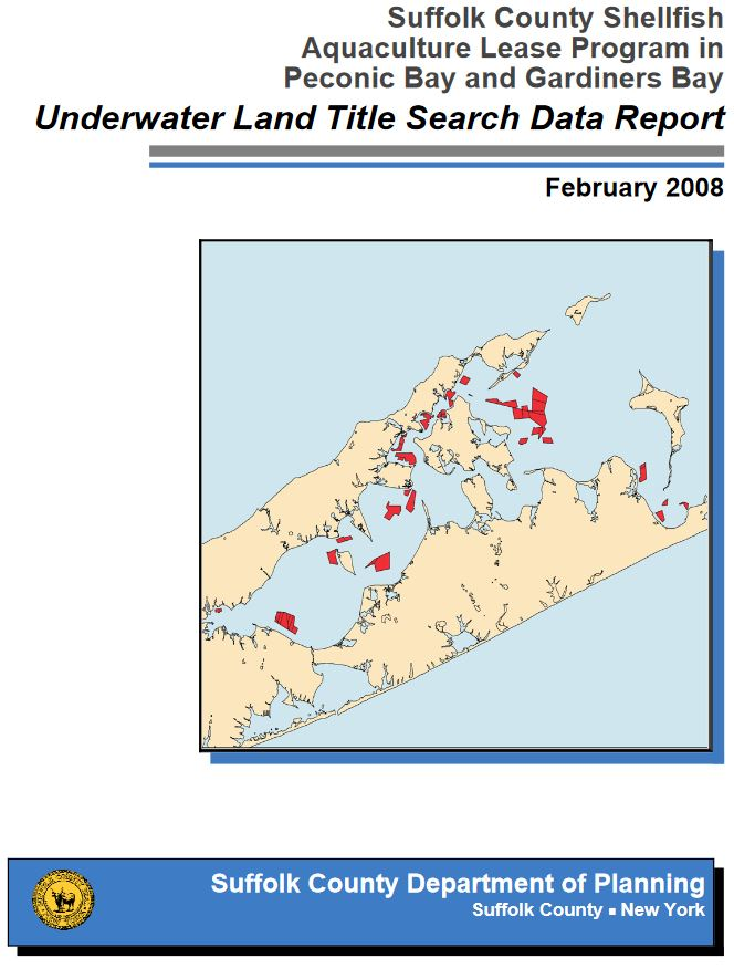 Underwater Land Title Search Data Report cover